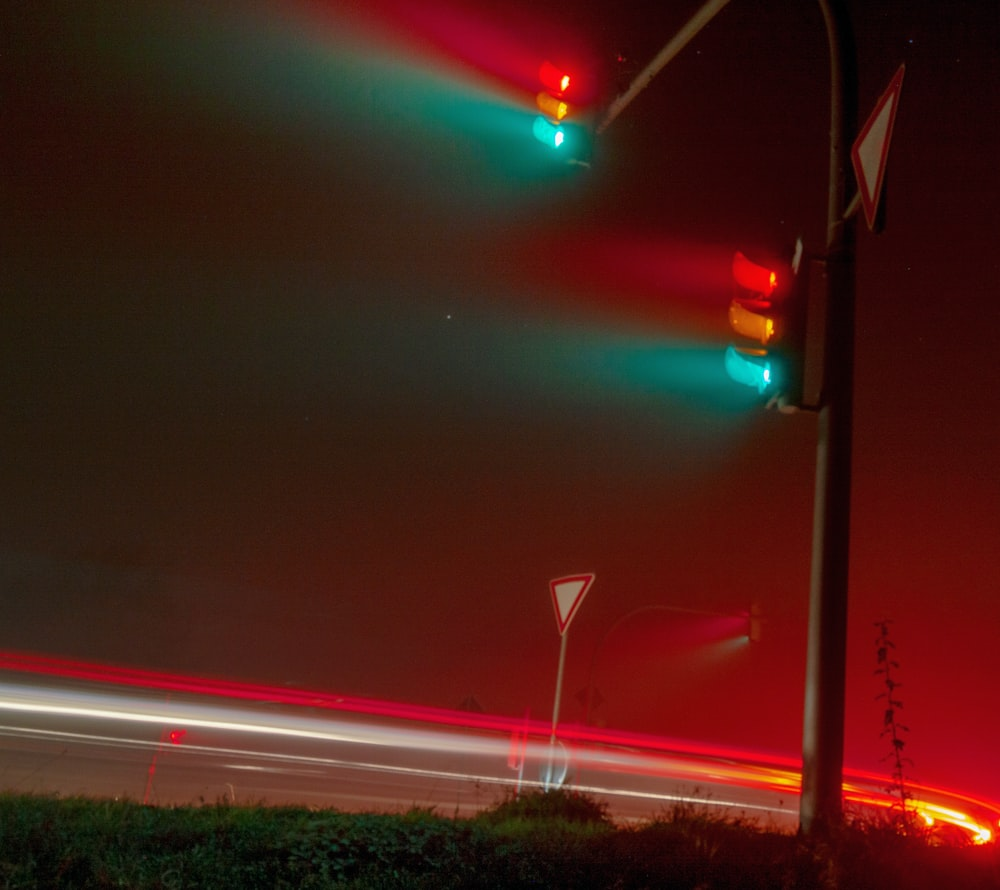 time-lapse photography of cars on during nighttime