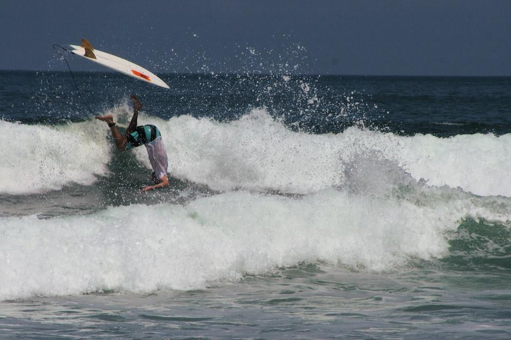 surfer on sea