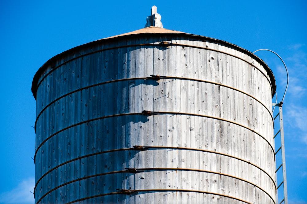 white industrial silo