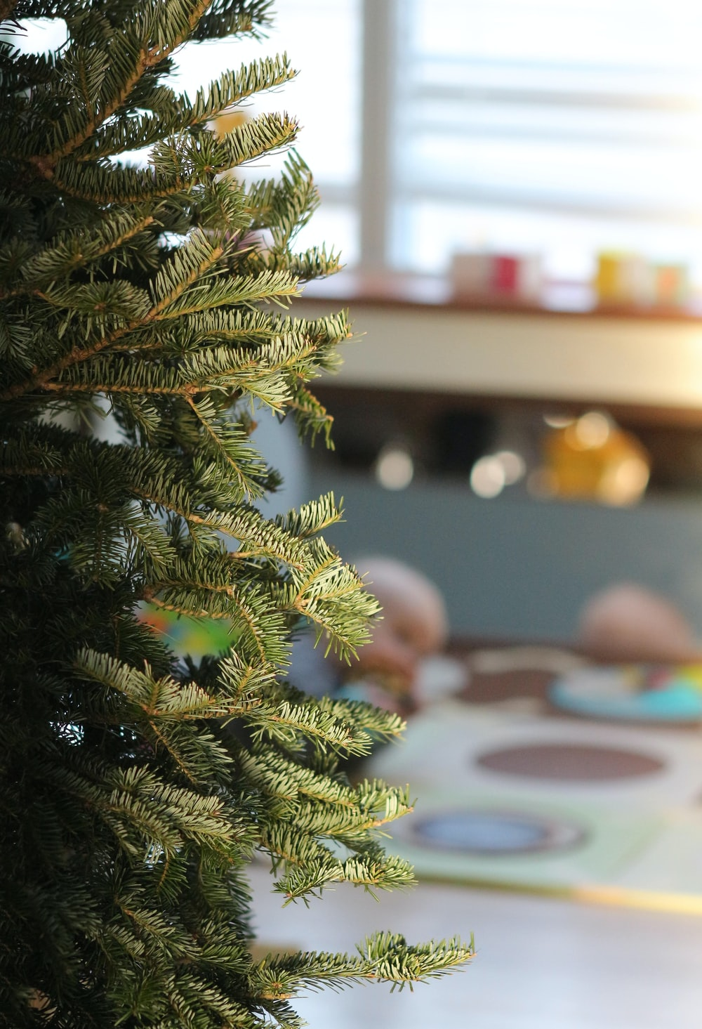 close-up photography of Christmas tree