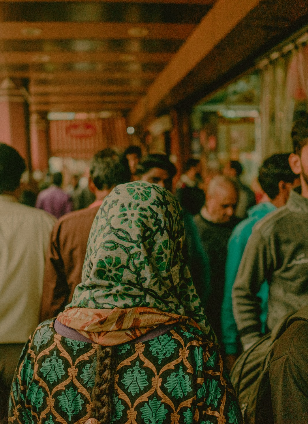 selective focus photography of walking crowd