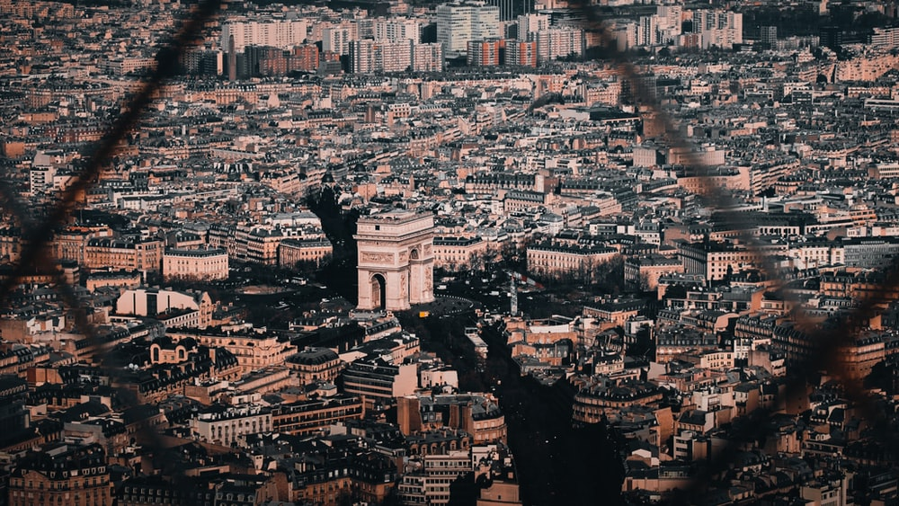 aerial photography of Paris at daytime