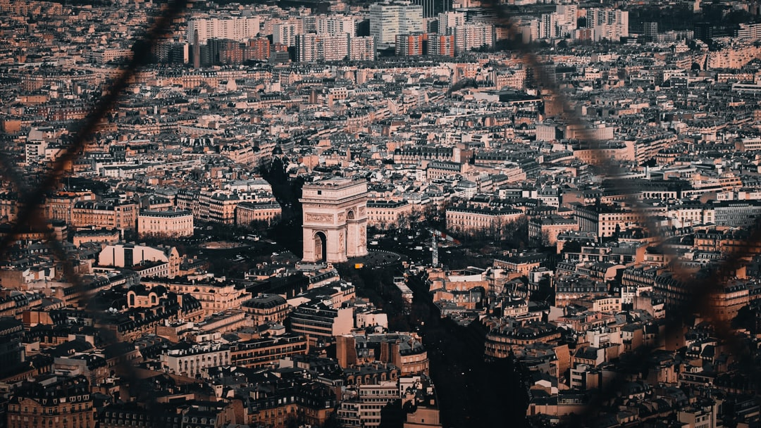 Arc de Triomphe from the Eiffel Tower.