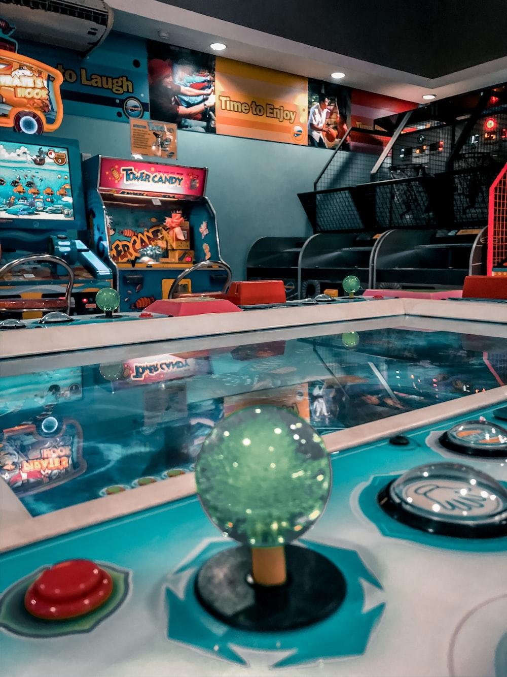 assorted-color arcade games
