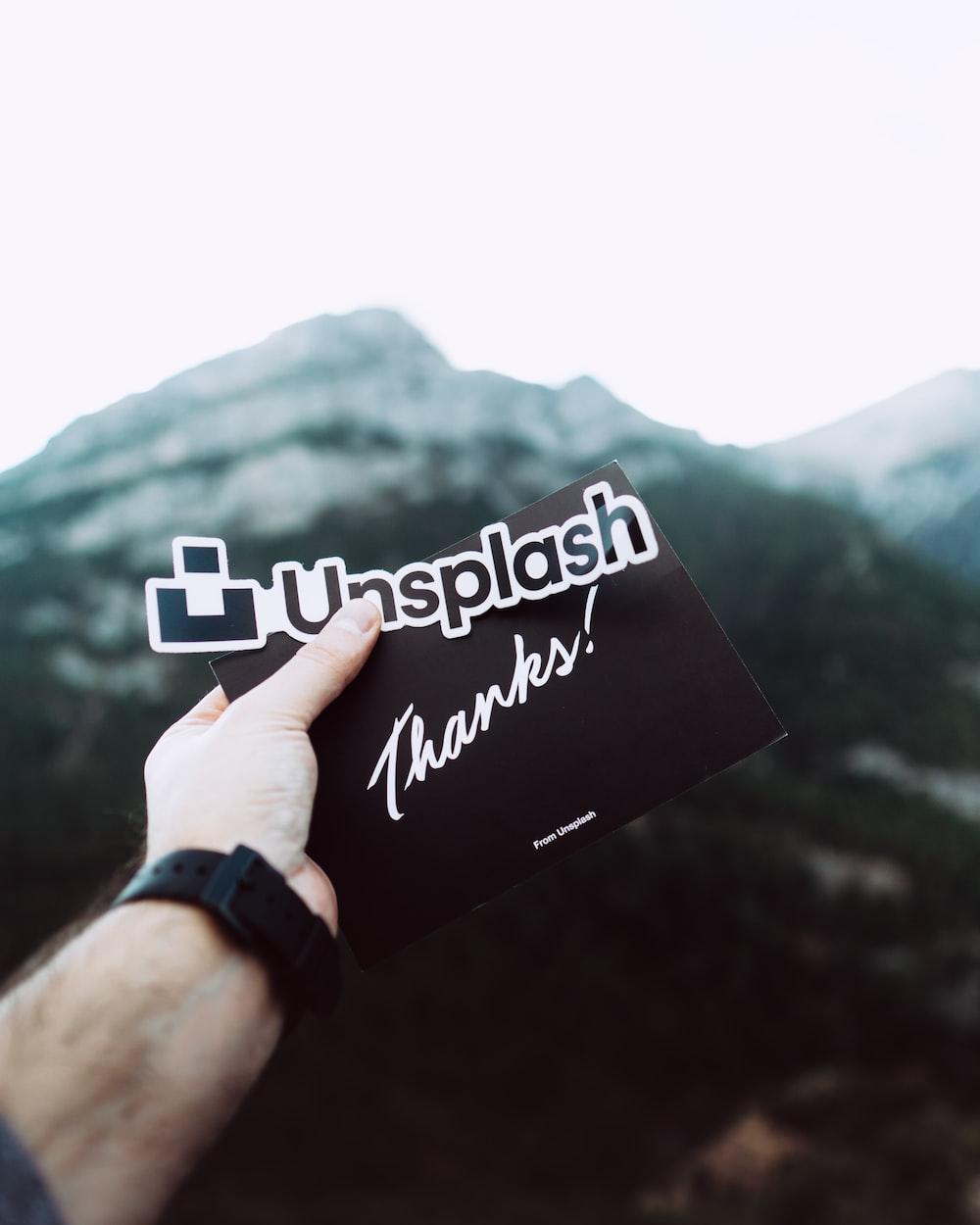 unsplash text sticker
