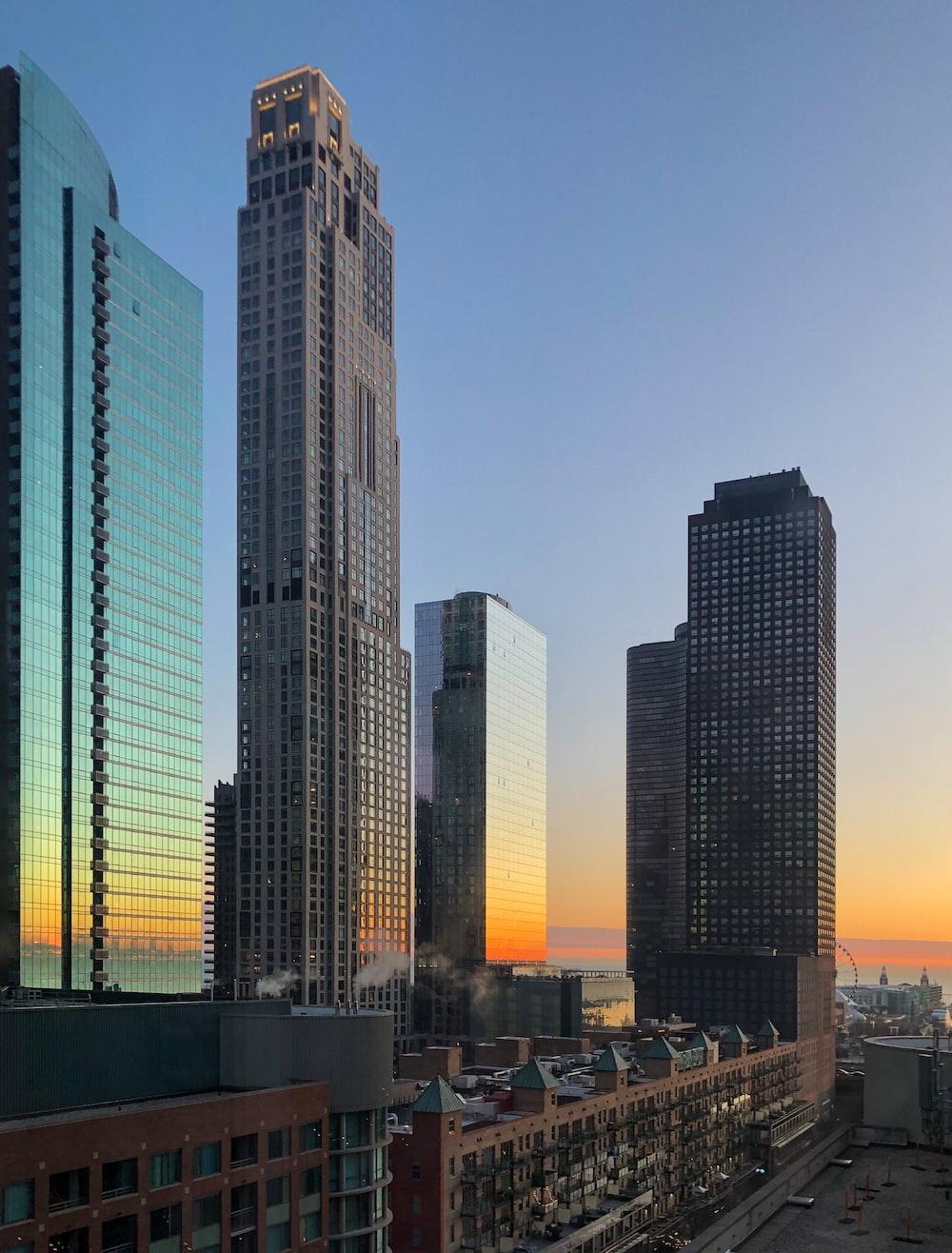 brown concrete high-rise buildings