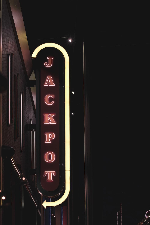 Jackpot neon signage