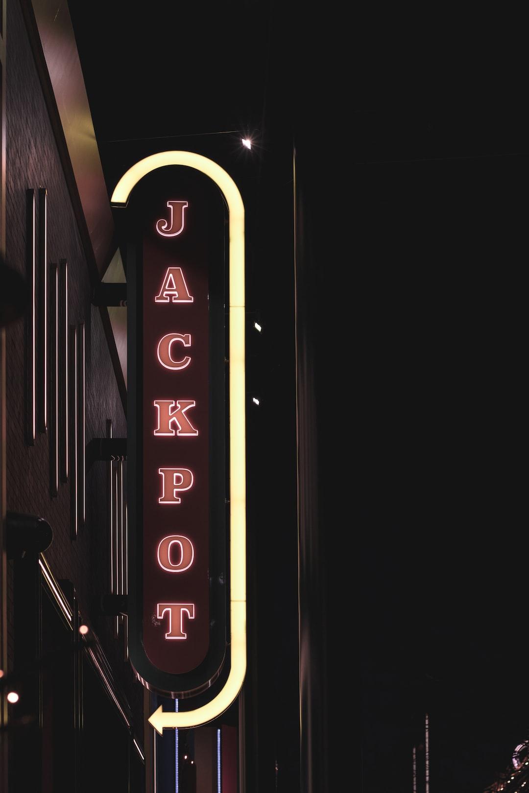 Jackpot neon sign.