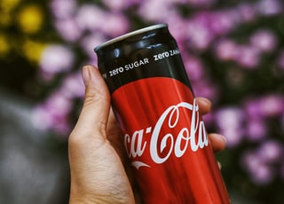 Coca-Cola zero sugar soda can