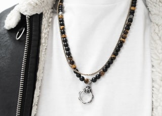 beaded black necklace