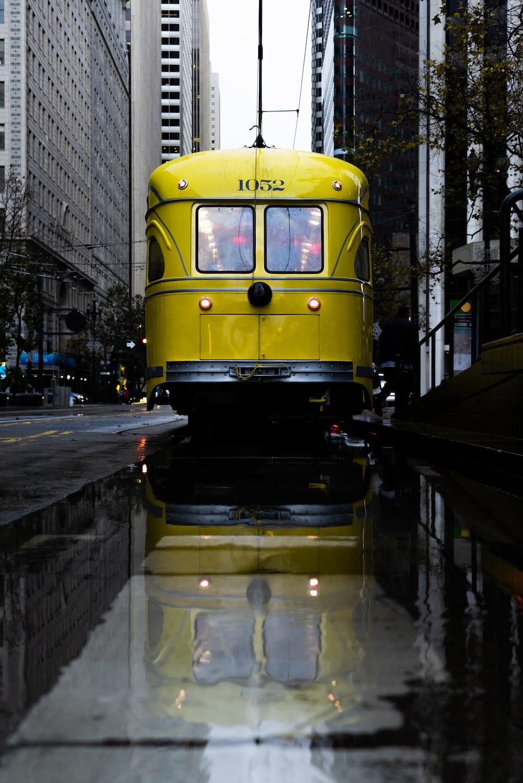yellow city train