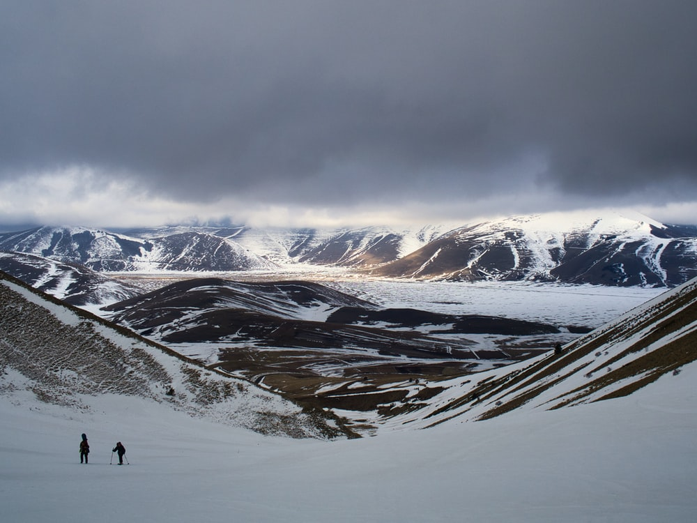 view photography of white snow mountain