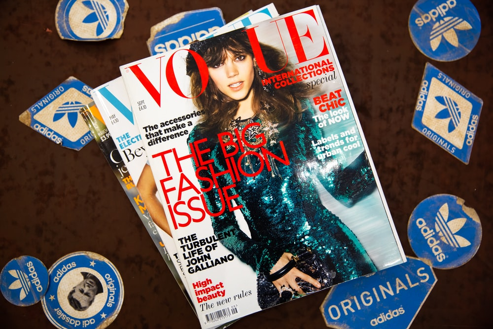 several Vogue magazines