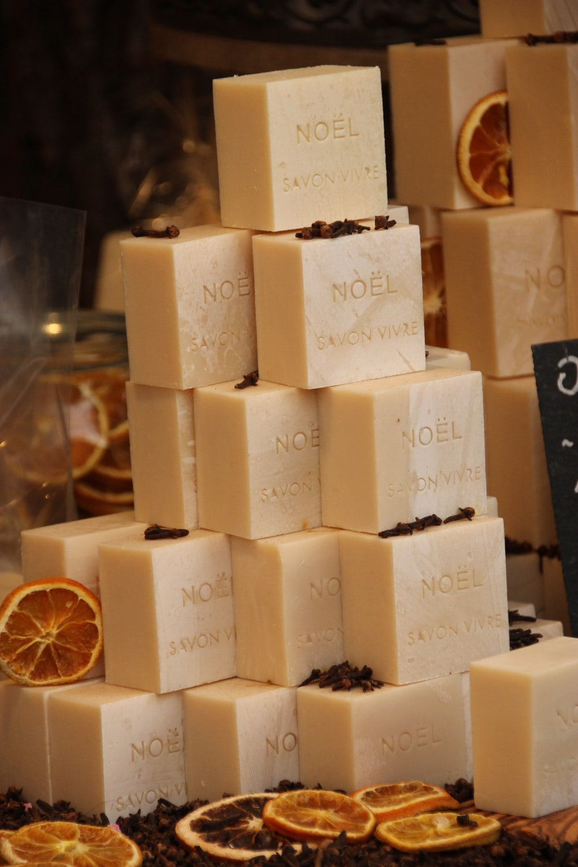 stack of Noel soaps