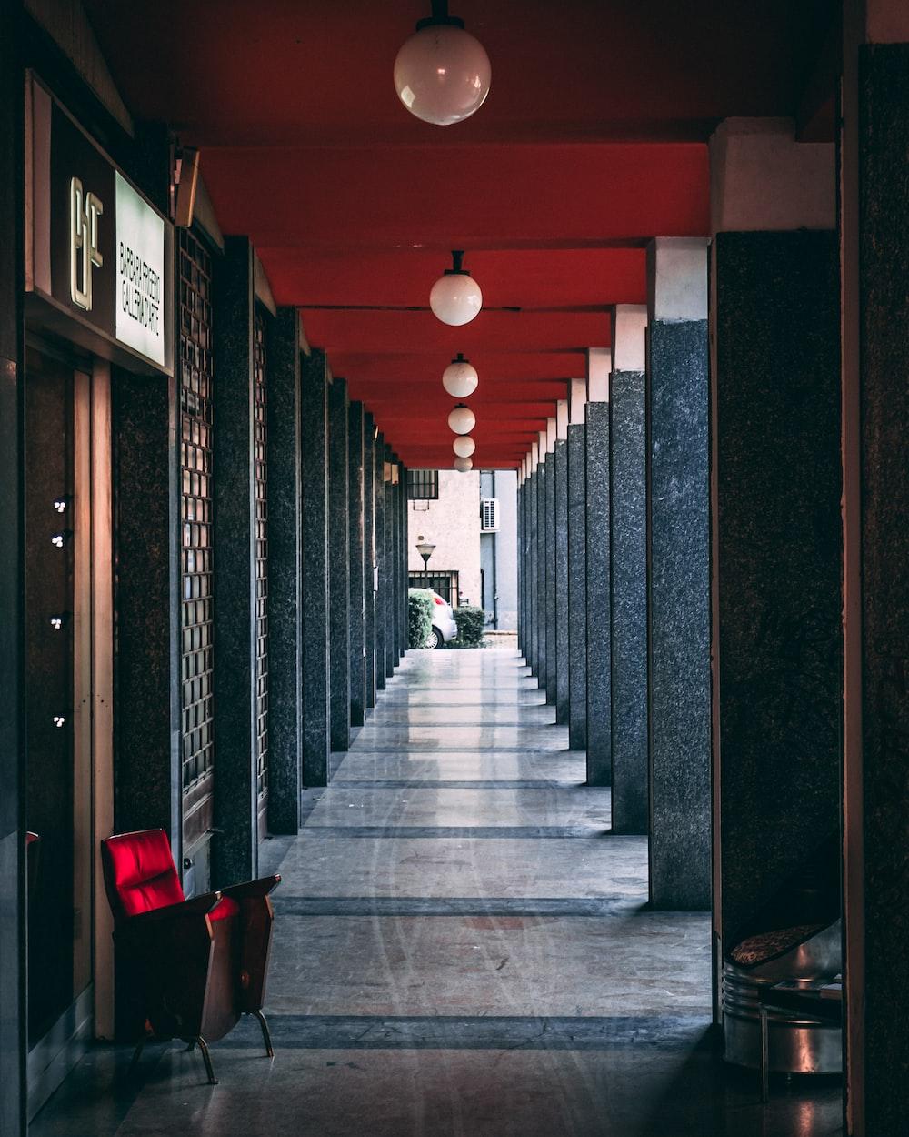 shallow focus photo of hallway
