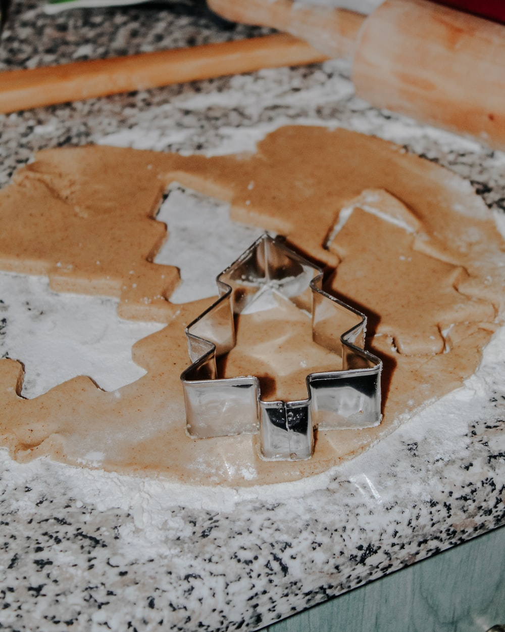 cookie cutter forming Christmas tree