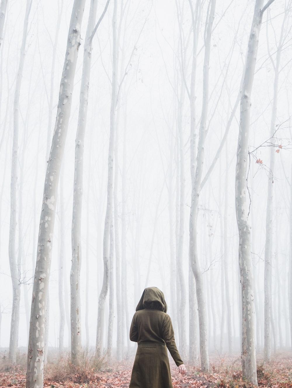 woman near trees