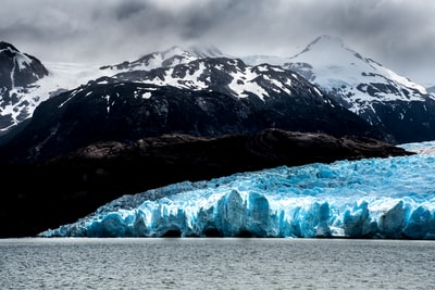 ice bergs patagonia zoom background