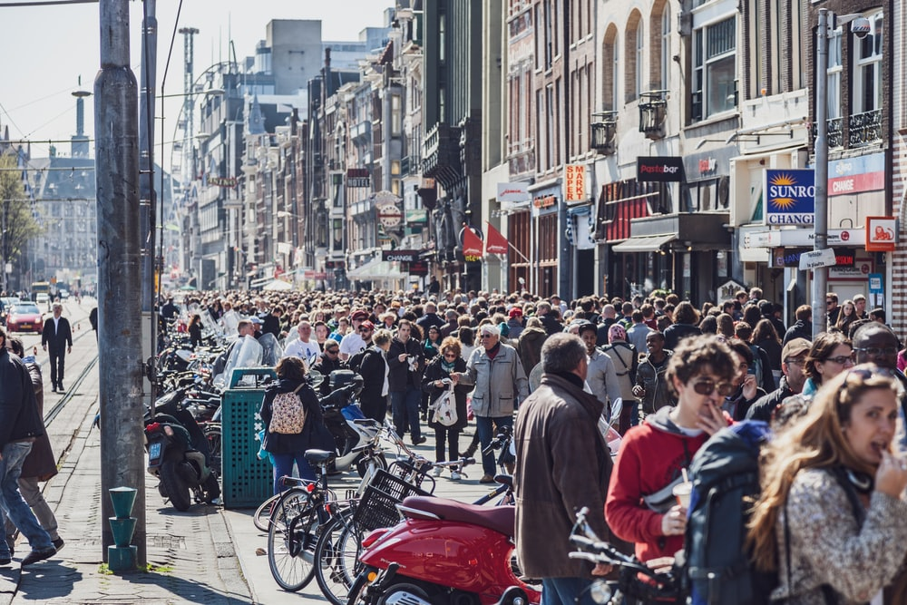 people in street during daytime