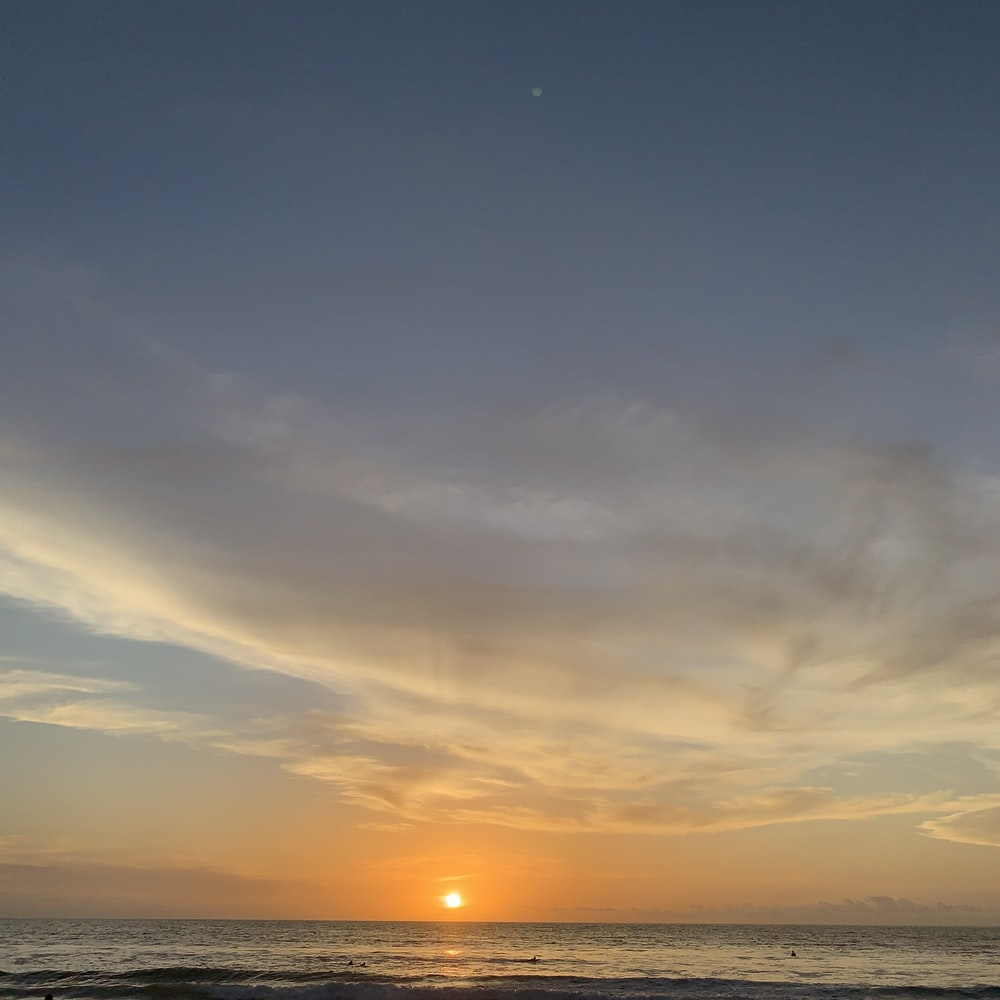 sunset ocean scenery
