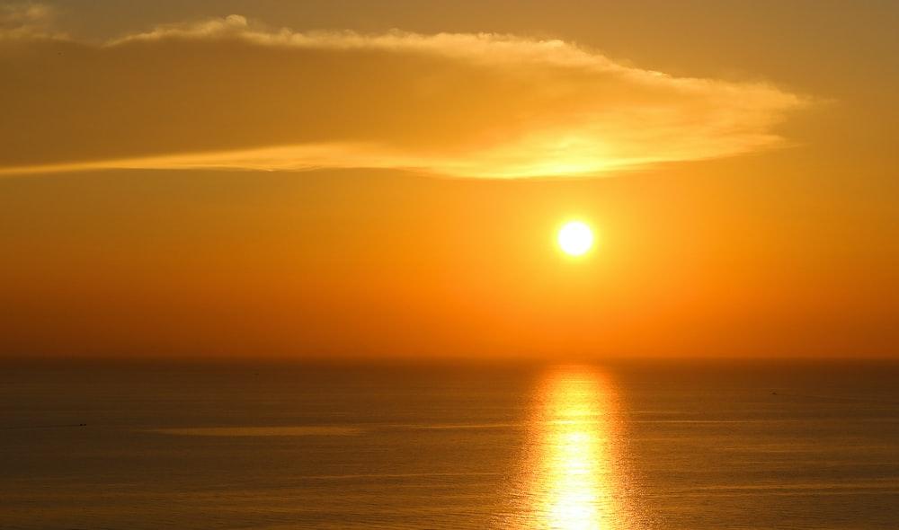 sunset ocean scnery
