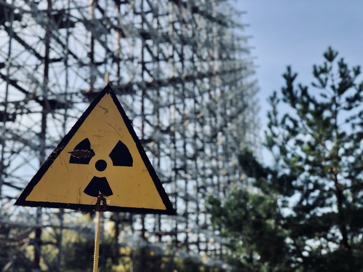chernobyl, red road signage