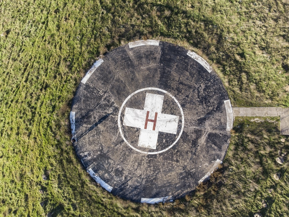 helicopter landing spot