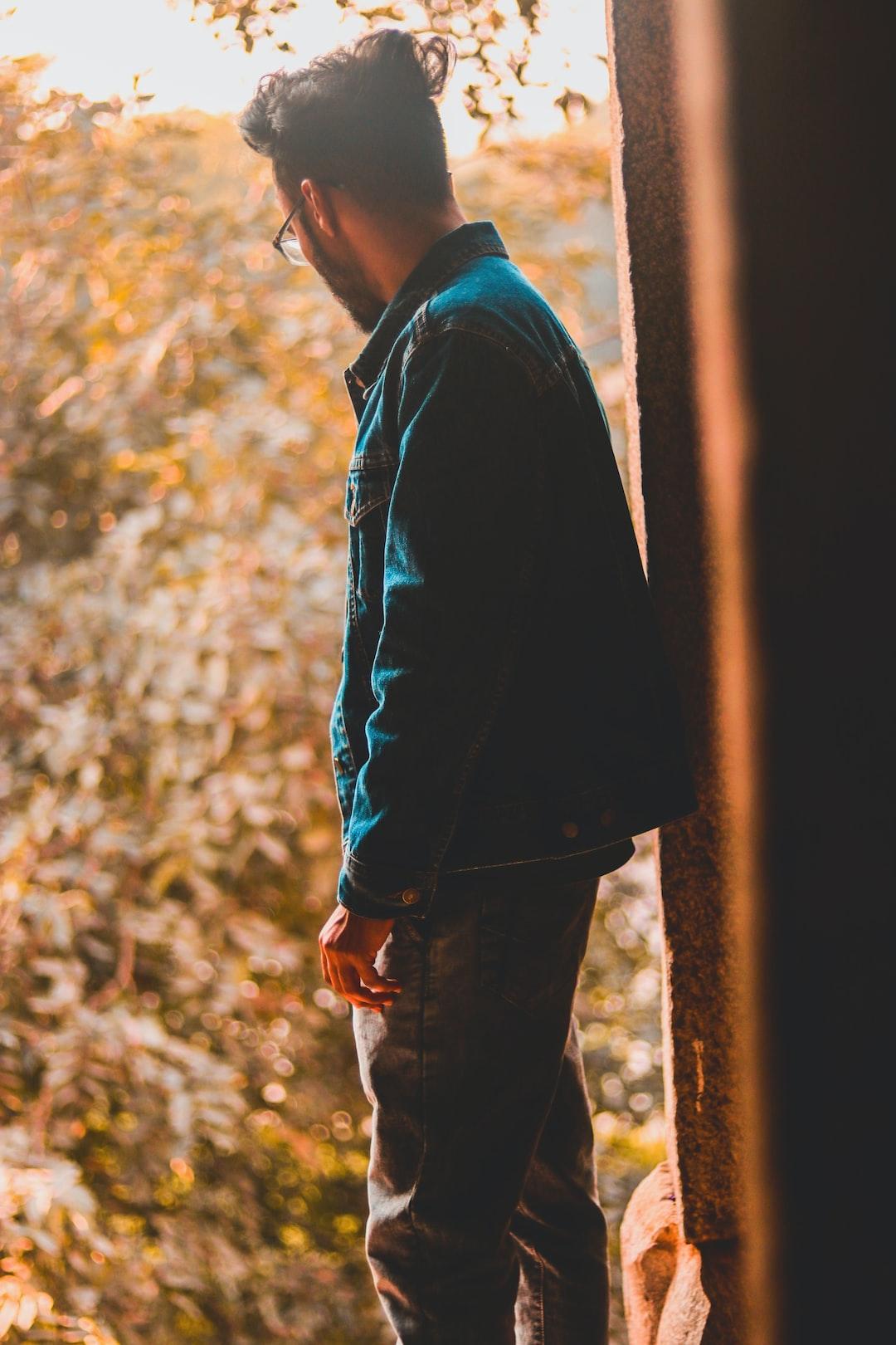 Man standing alone.
