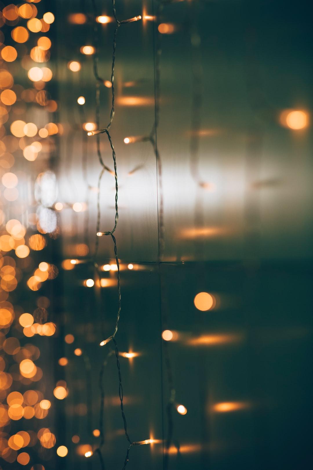 Christmas xmas winter lightning bokeh