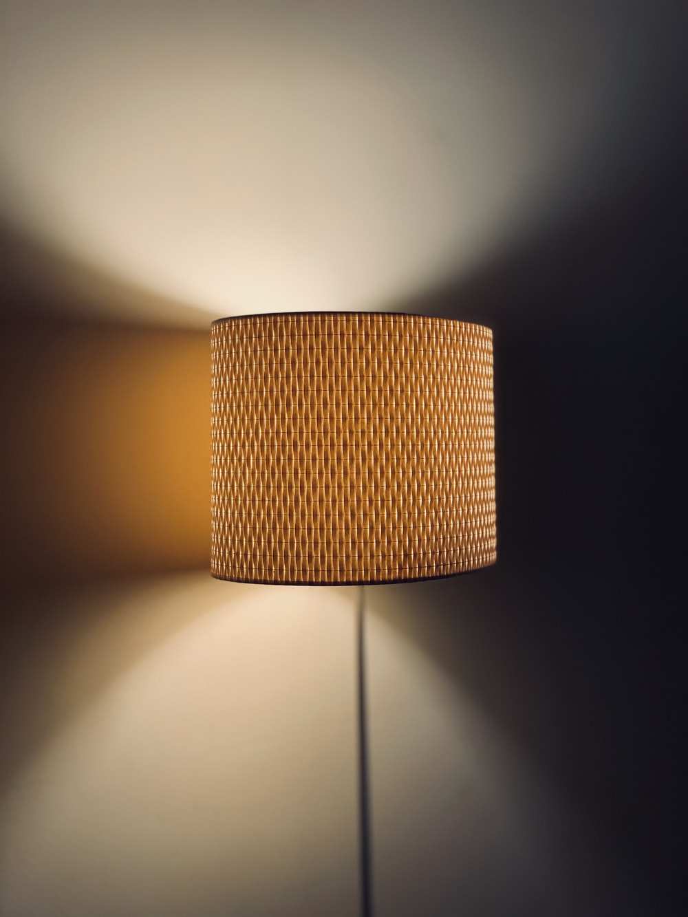 brown lampshade
