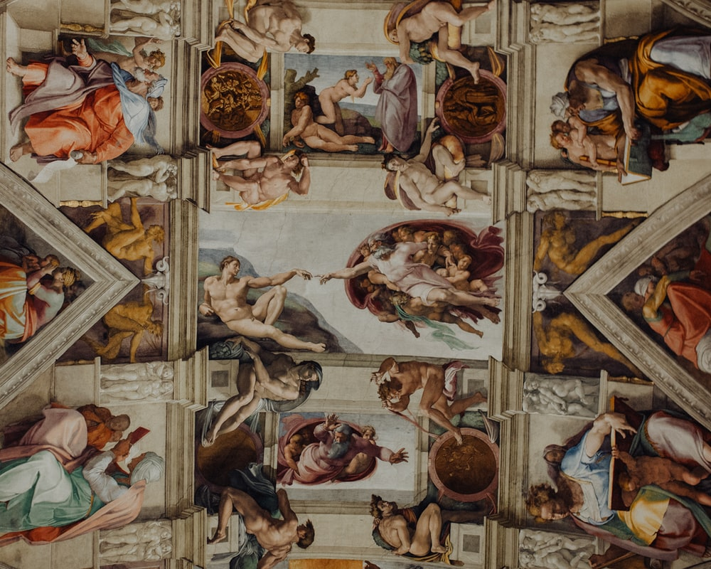 ceiling art of Sistine Chapel