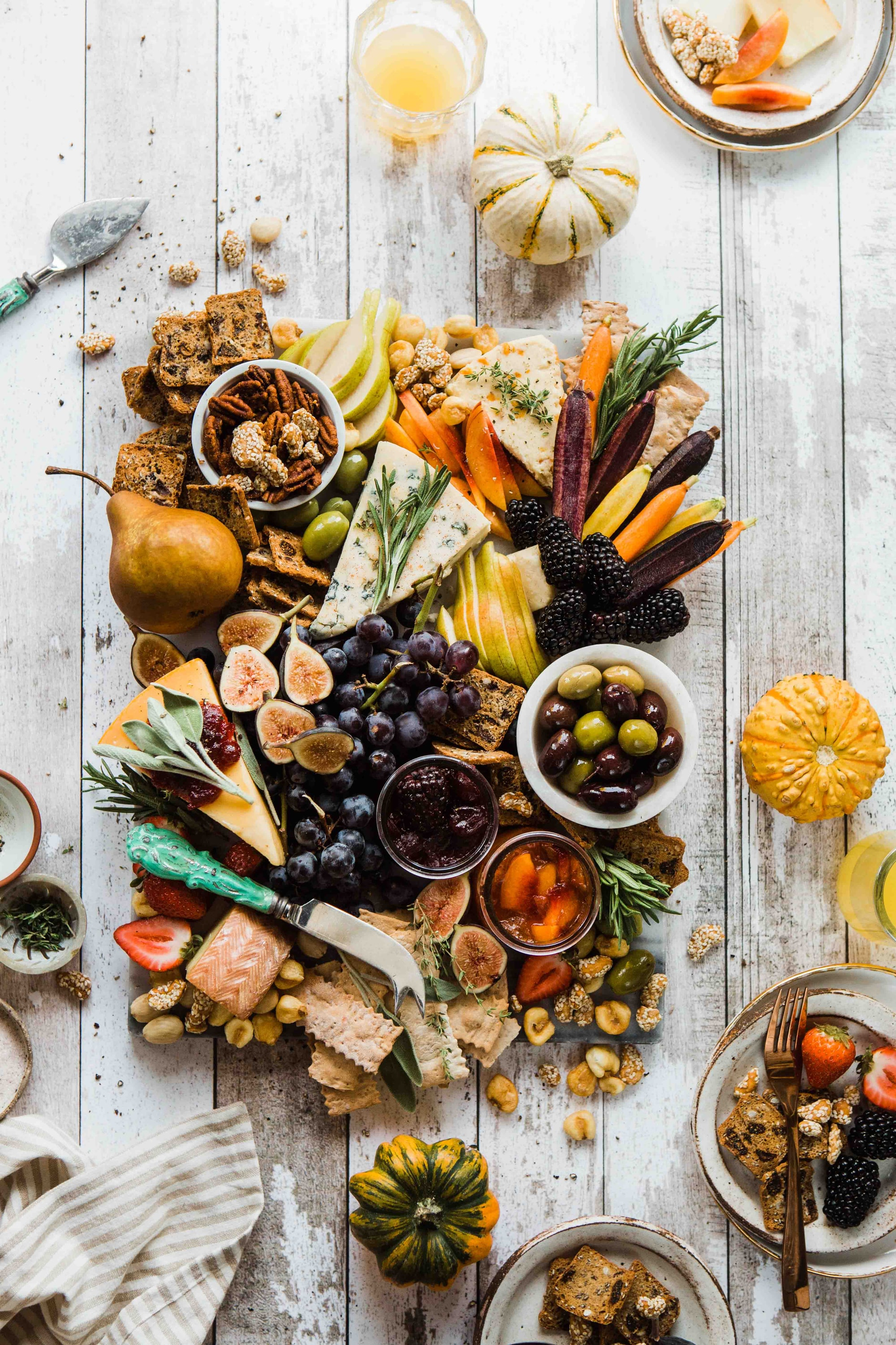 Rustic Autumn cheeseboard