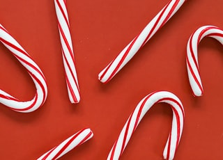 white and red candy canes