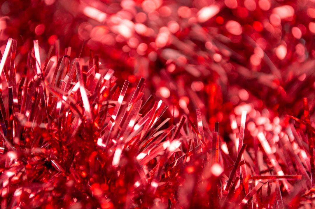 Red Tinsel Garland