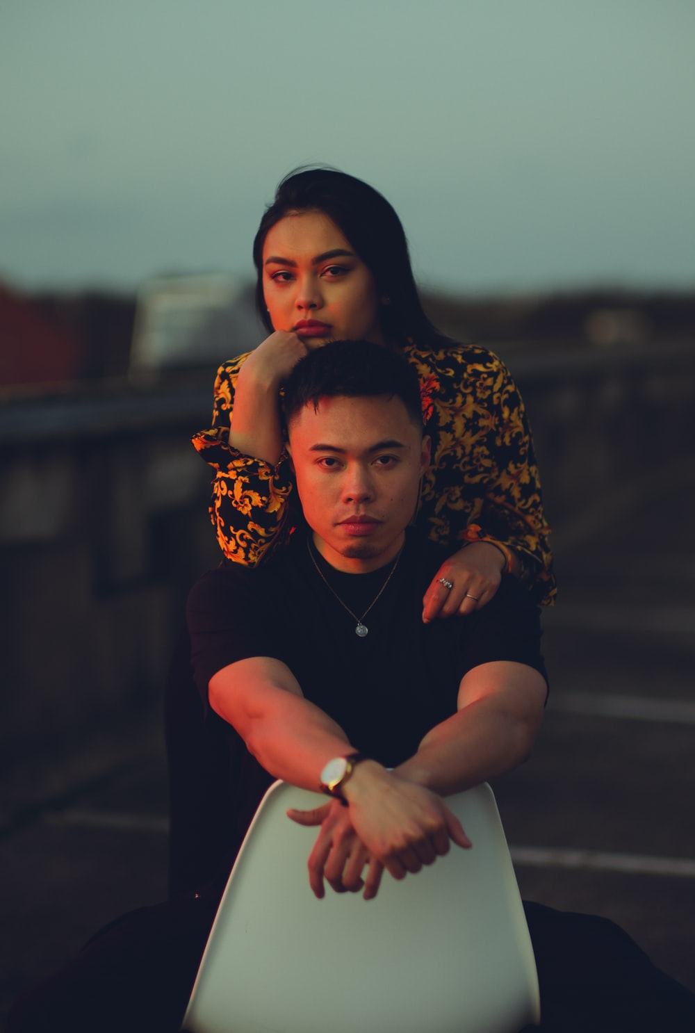 couple on roof