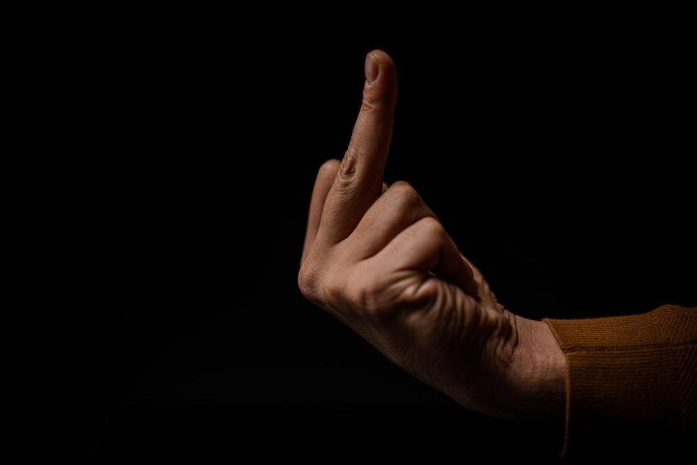 human middle finger