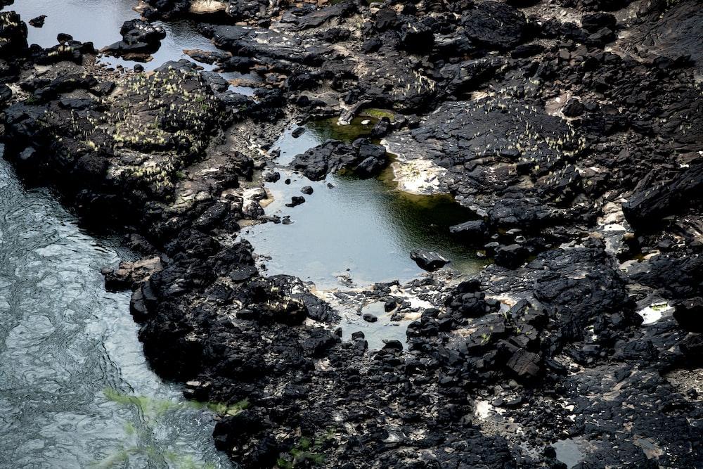 black rocks during daytime