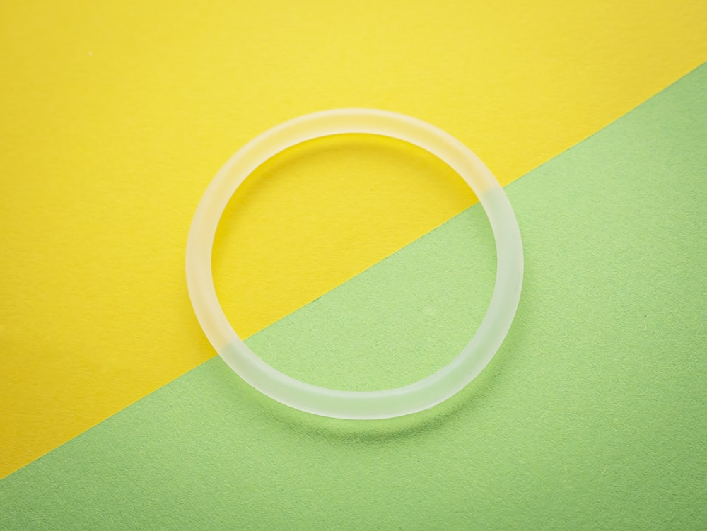 white plastic bangle