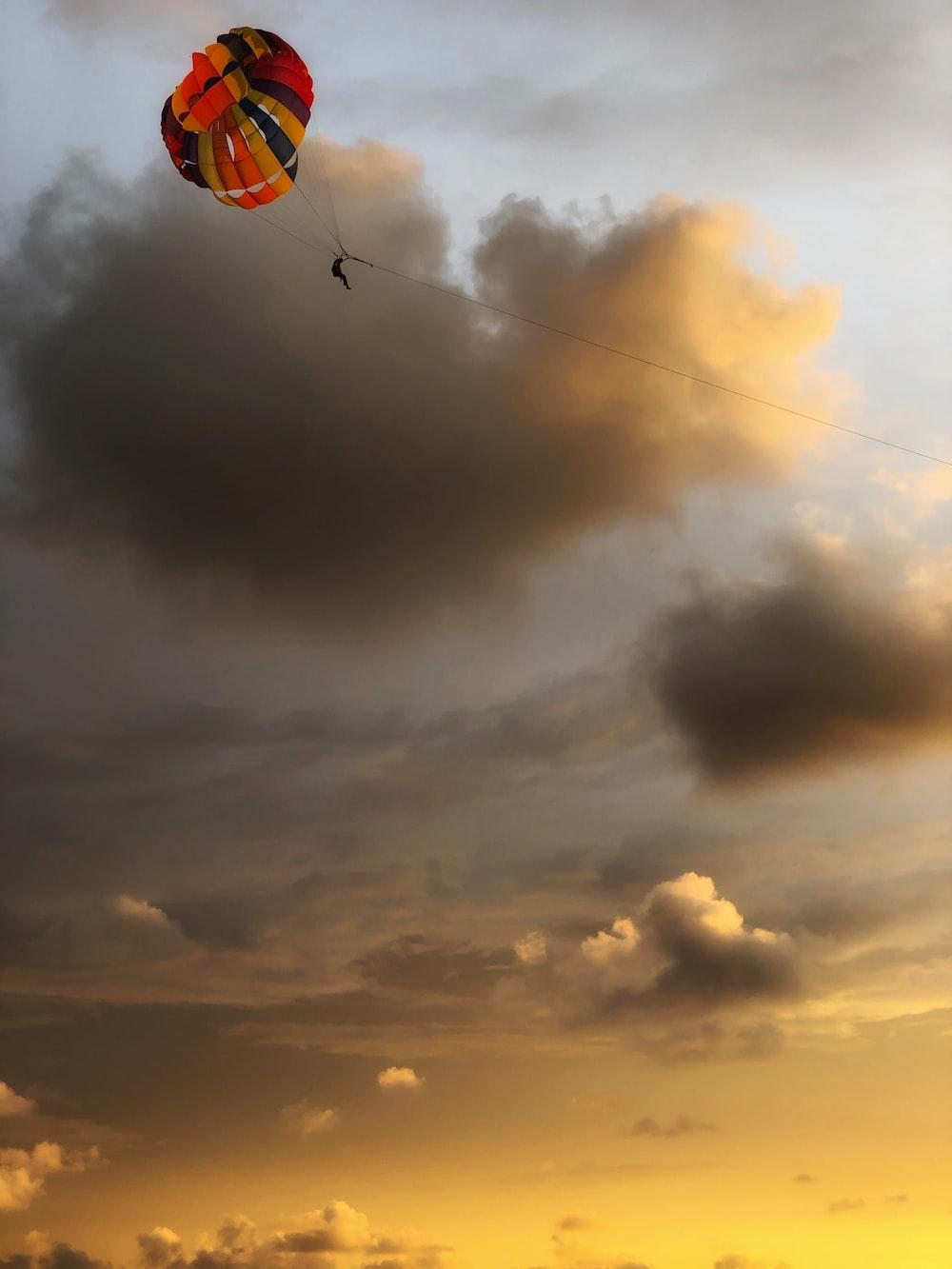 multicolored parachute