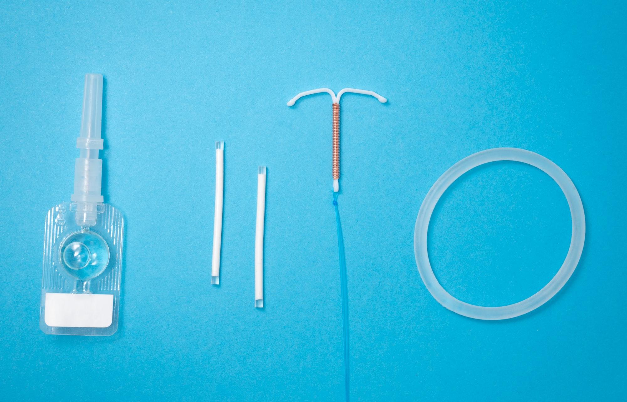 Contraceptive methods: DMPA, implants, IUD, vaginal ring