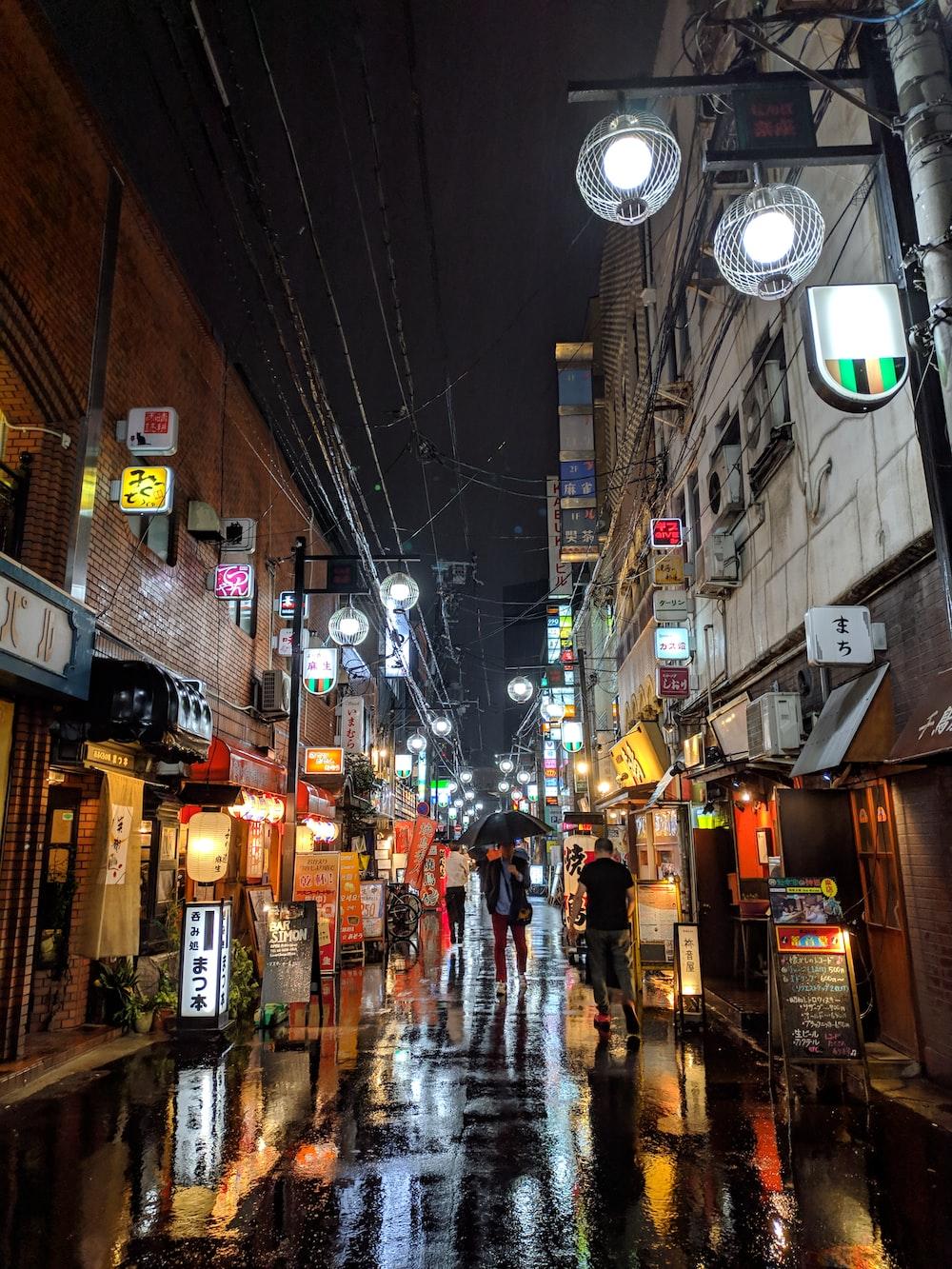 city during night