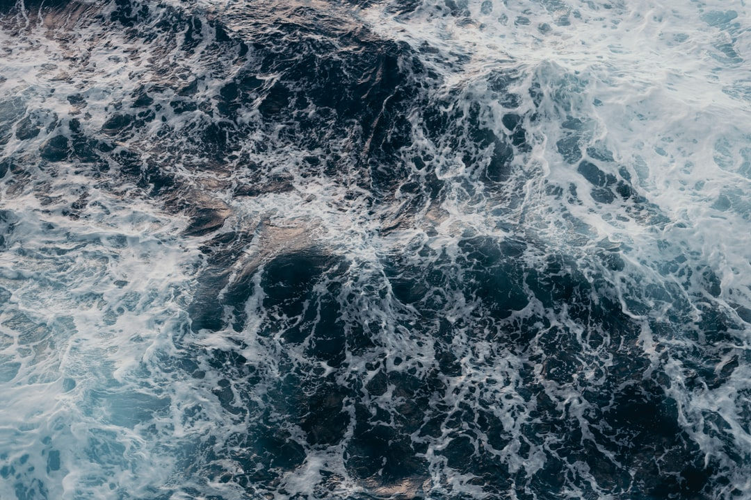 Ocean waters from a cruise liner