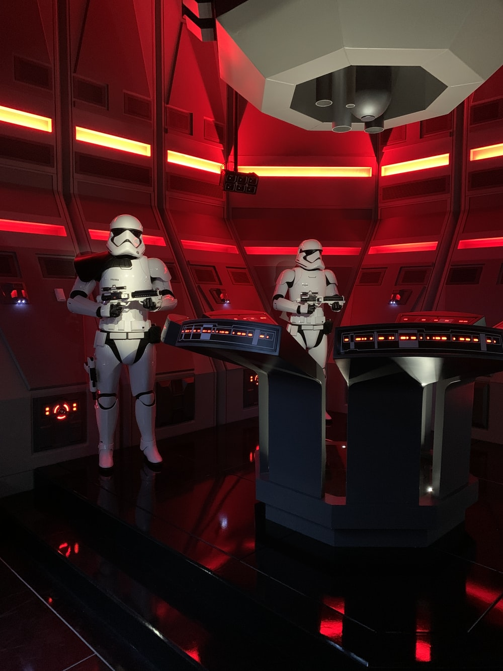 two Star Wars Storm Troopers guard the cockpit
