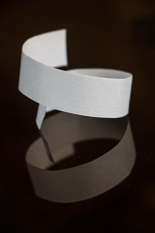 white ribbon illustration