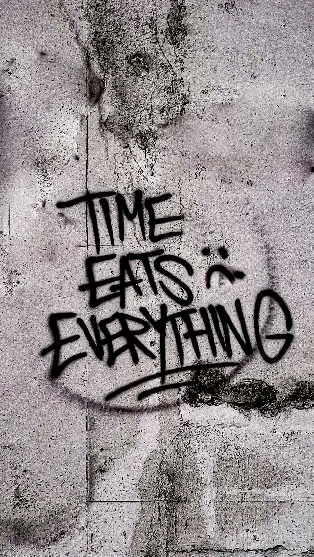 time eats everything wall art