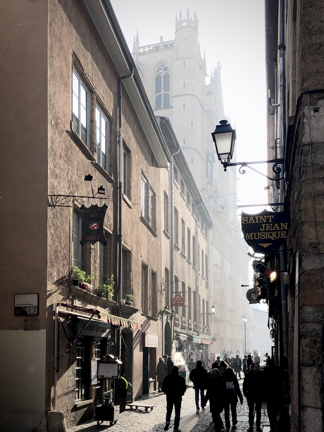 Old town in Lyon.