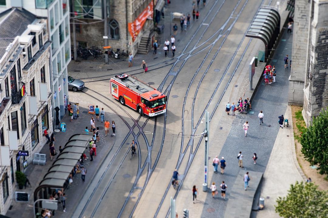 Firetruck in city centre