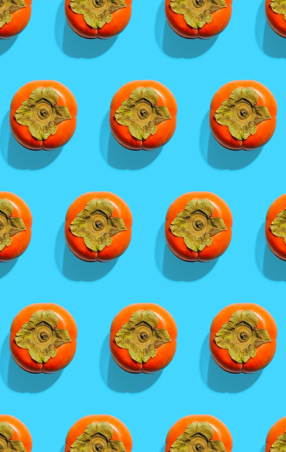 orange persimmon fruits