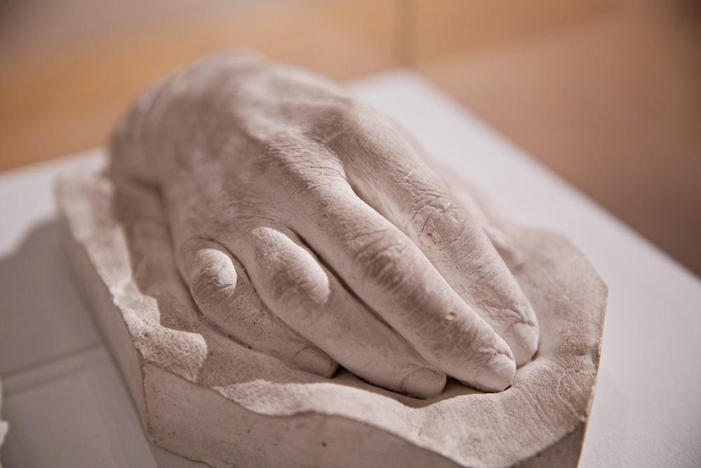 hand sculptured on surface