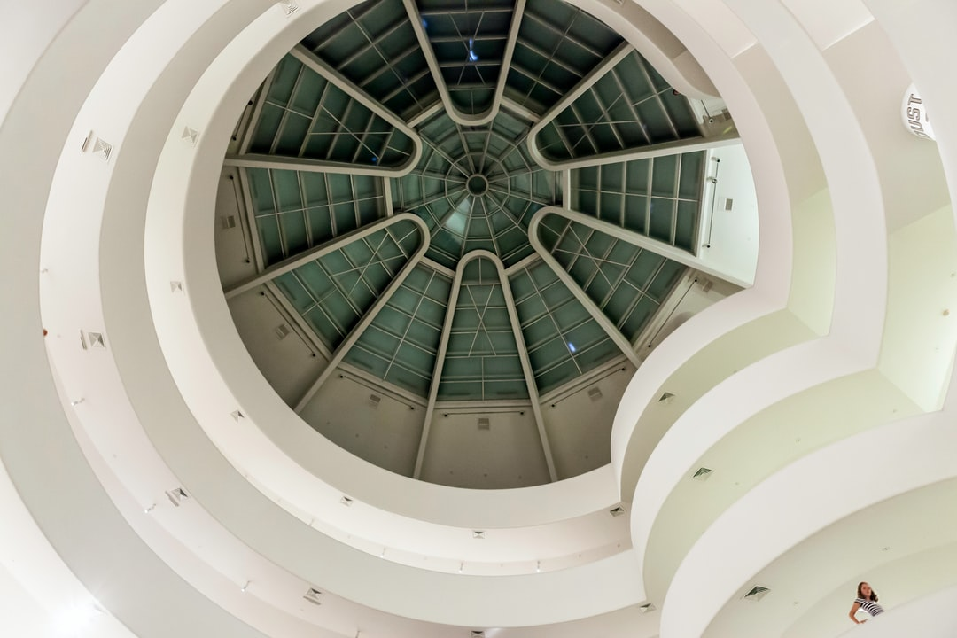 View from inside the Guggenheim museum.
